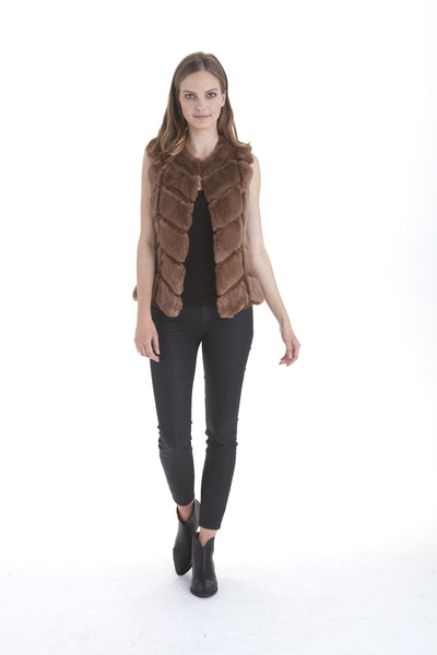 Sloane Genuine Fur Vest | Love Token US