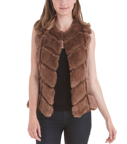 Sloan Rabbit Fur Vest