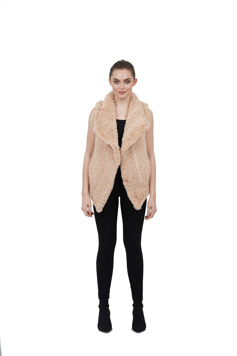 Amy Faux Fur Ultra Plush Texture Vest