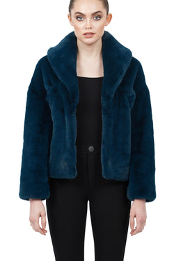 Tiara Faux Fur Plush Jacket