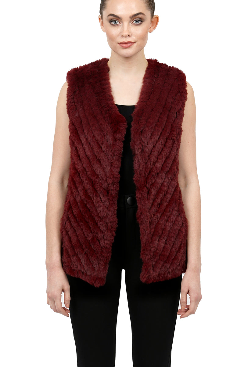 Velma Faux Fur Ultra Plush Texture Collarless Vest