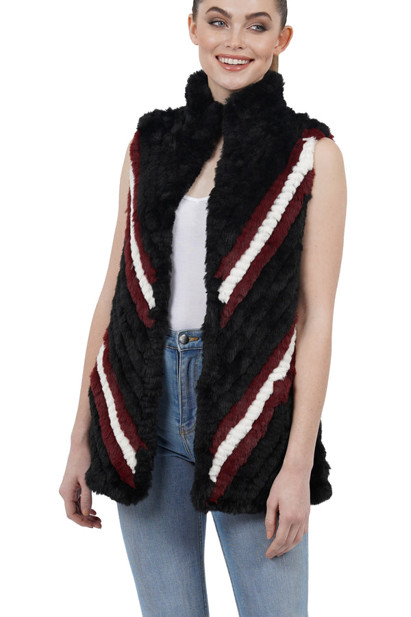 Marylin Faux Fur Ultra Plush Texture High Collar Vest