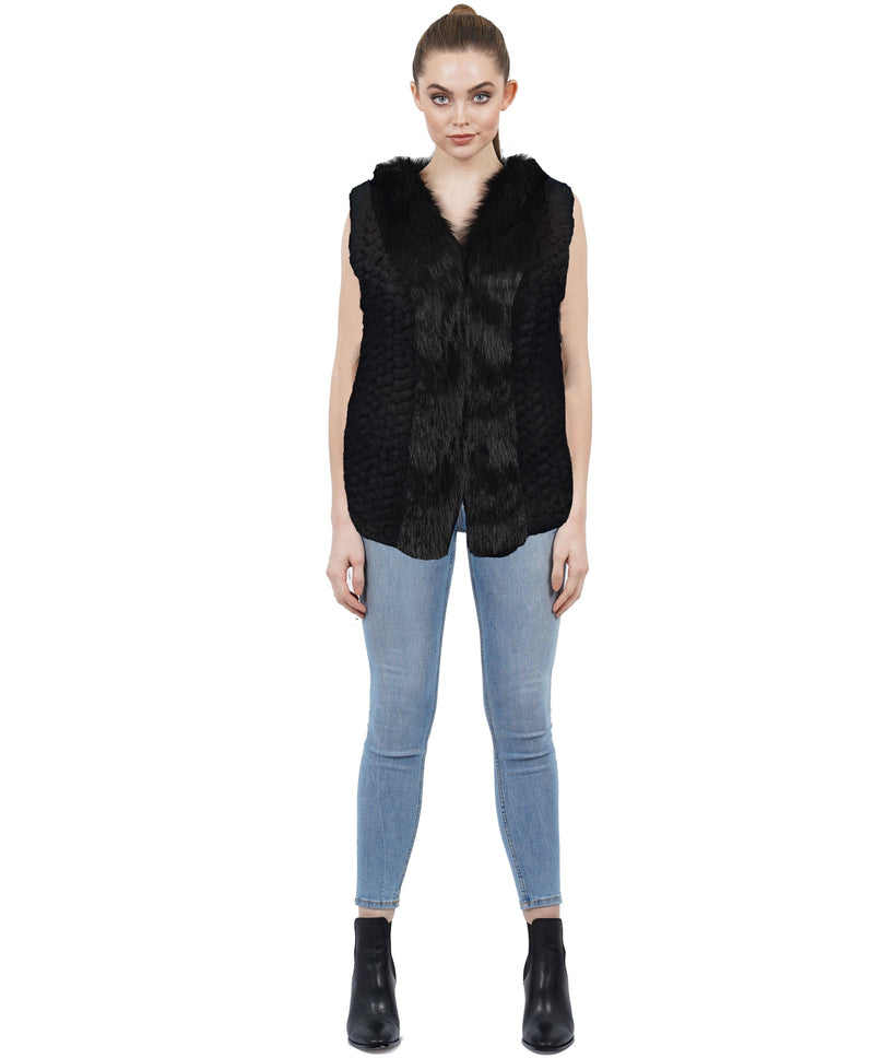 Sidney Faux Fur Knit Vest