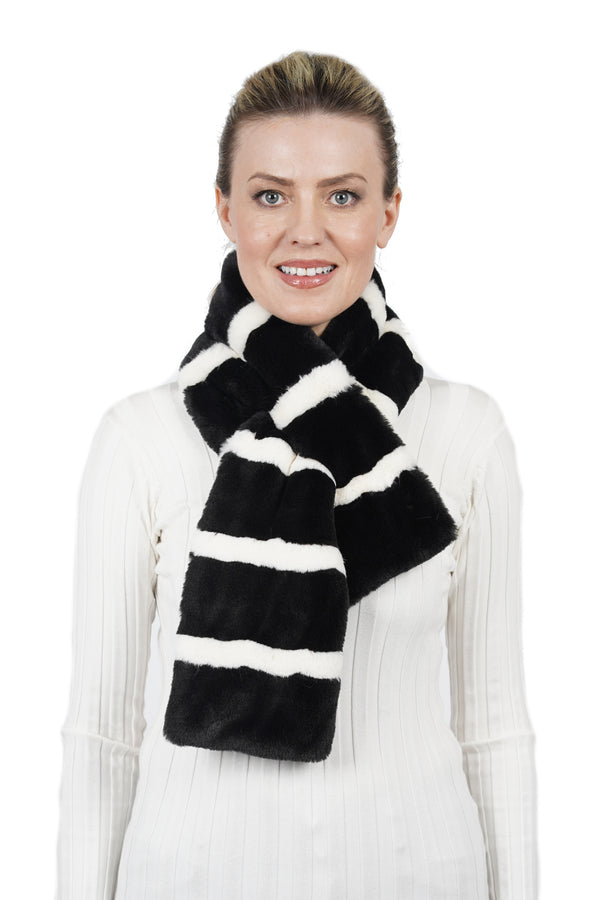 Jay Faux Fur Pull-Through Scarf