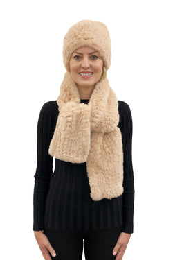 Hayden Faux Fur 2-Pc Infinity Scarf & Hat Combo