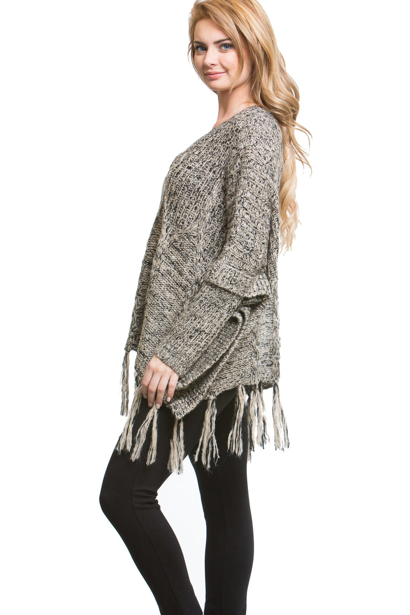 Tassel Trim Sweater