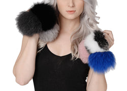 Jessica Genuine Real Fox Fur Puff Keychain