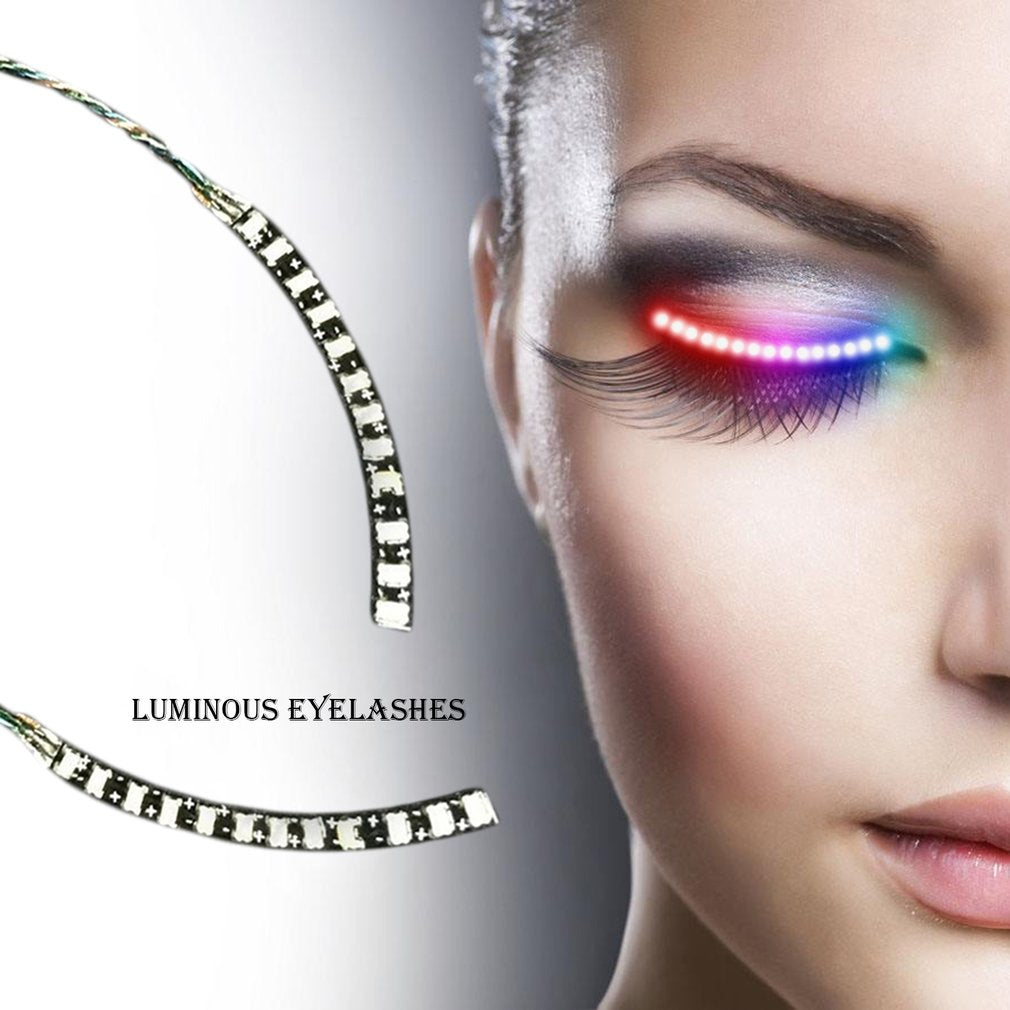 Led Lashes Waterproof Luminous False Eyelashes Fake Eyelashes For