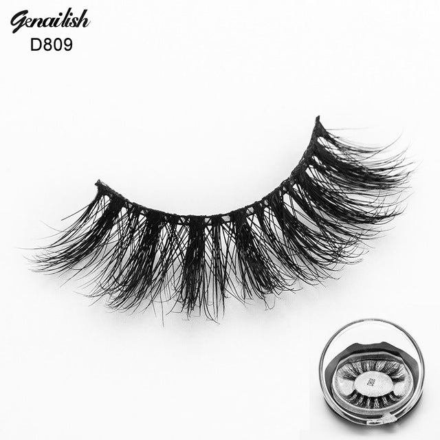 3d Real Mink Eyelashes Marvelous Volume Eye Extension Thick Crossing