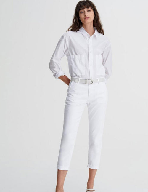 The Caden Tailored Trousers - White