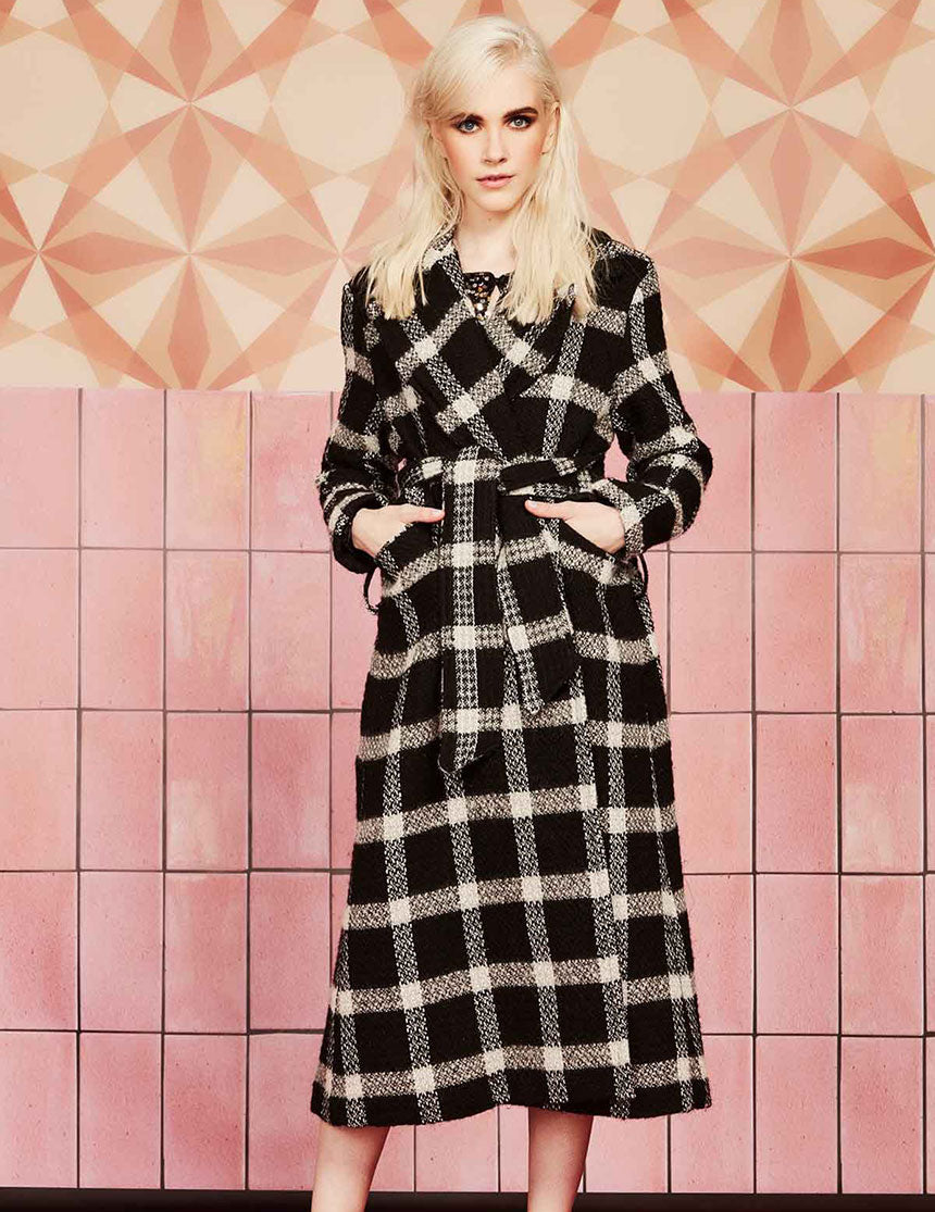 Check Republic Coat - Black Check