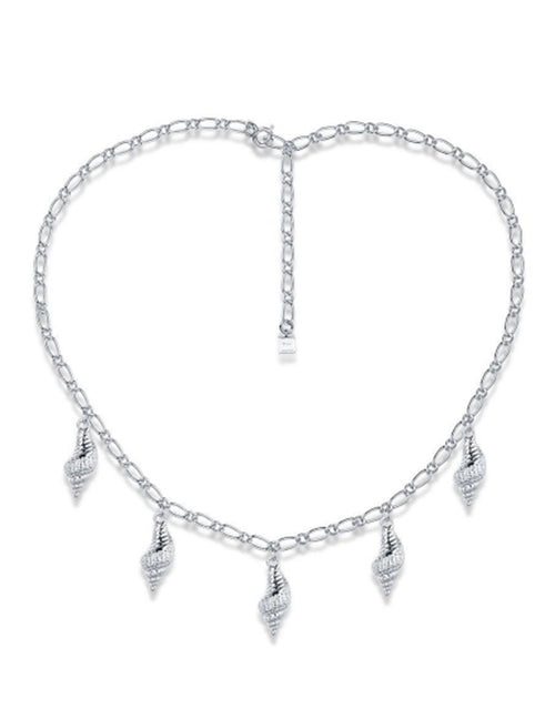 Wipeout Shell Necklace - Silver