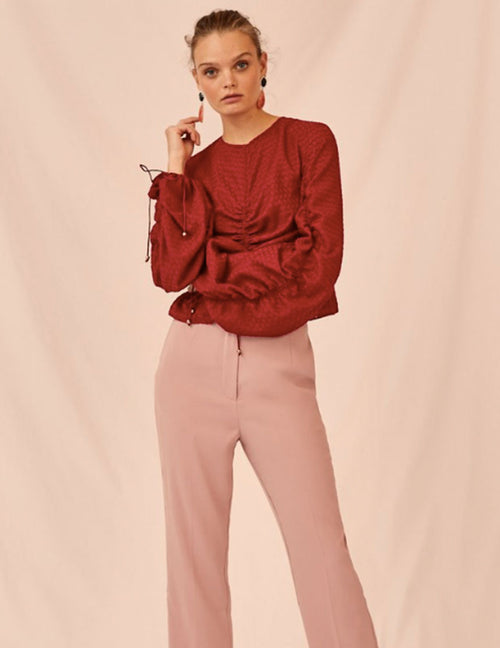 Insight Long Sleeved Top - Berry