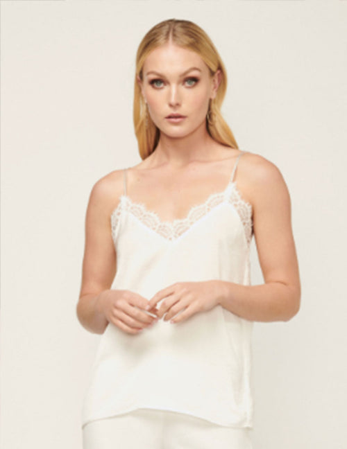 Bailey Lace Trimmed Cami - White