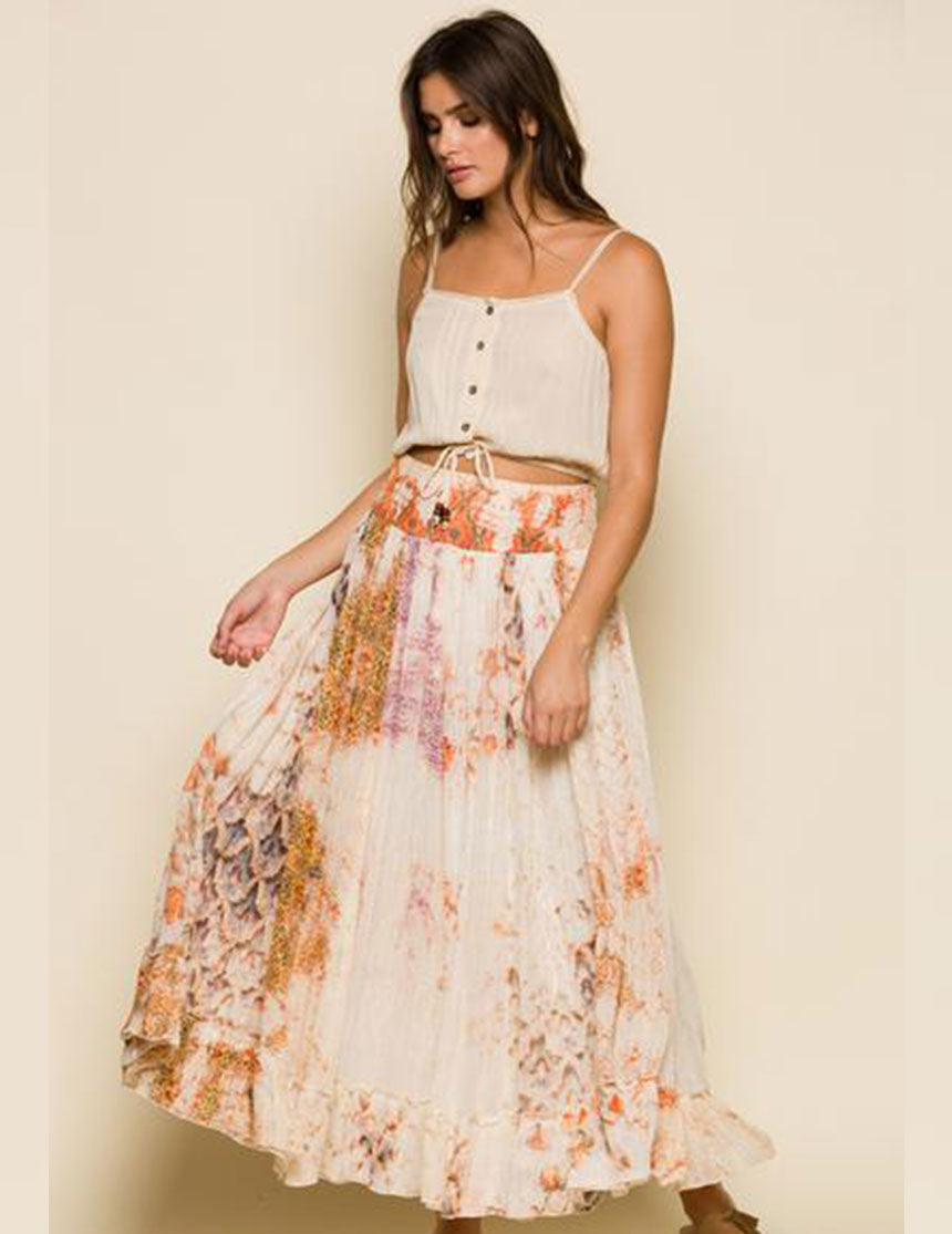 Kate Maxi Skirt - Sugar Cookie