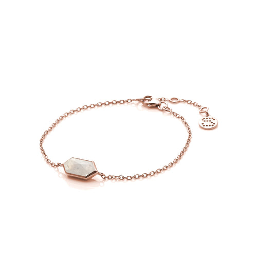 Haveli Moonstone/Rose Gold Bracelet