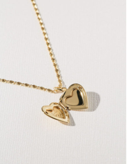 The Heart Locket Necklace - Gold
