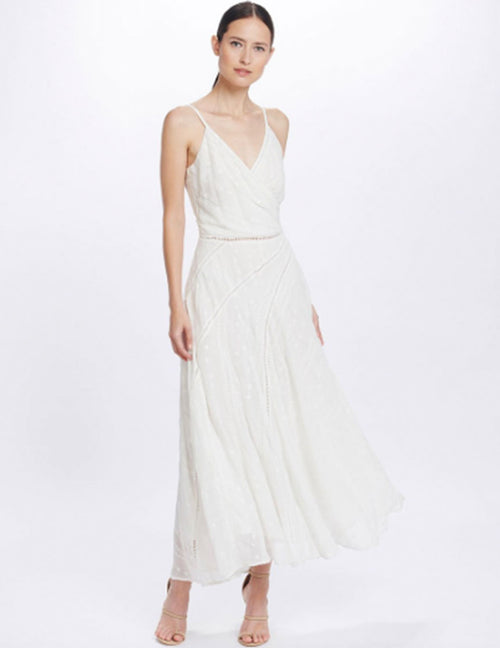 Coco Sleeveless Maxi Dress - White Lily