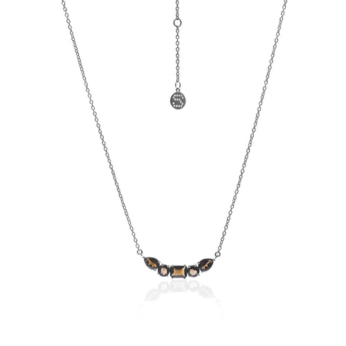 Amore Smokey Quartz/Silver Necklace