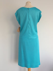 1960s Two-piece Turquoise Tricot Knit Set, Size S