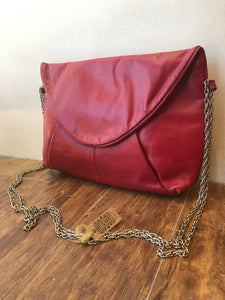 1970s Red Leather Crossbody