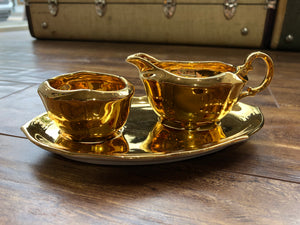Gold Age Sugar and Cream Dish by Royal Winton