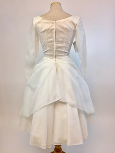 Floral Posey 1960s Wedding Dress - Antiquaire Boutique