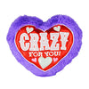 Crazy For You Purple Furry Love Pillow - Sku BTS-001698