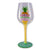 Stand Tall, Wear a Crown & Be Sweet Hand Painted Glittery Wine Glass