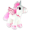 White Love Stuffed Unicorn Toy - Sku BTS-002741