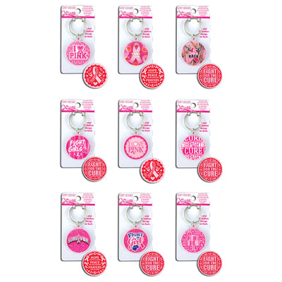 Pink Keychains (12 ct) on sale at Bulk Toy Store