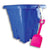 Square Sand Castle Buckets with Shovels (12ct)