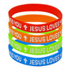 Jesus Loves You'' Wristbands  (12 ct) - Sku BTS-029165
