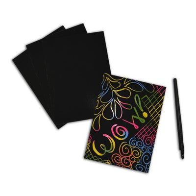 Magic Rainbow Scratch & Sketch Stationary Sets (One Dozen) - Sku BTS-029560