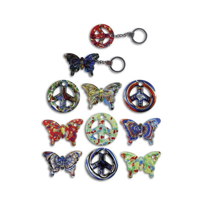 Art Glass Keychains (13 per display) on sale at Bulk Toy Store
