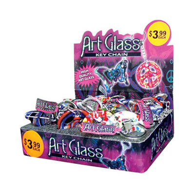 Art Glass Keychains (13 per display) - Sku BTS-087467