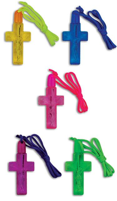 Discount Party Supplies - Cross Bubble Necklaces (20% Off!)