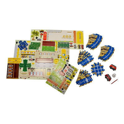 3-D Roadway Puzzle with Buses on sale at Bulk Toy Store
