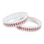 Baseball Silicone Wristbands (Bag of 12 Pieces)