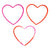 Heart Jumbo Silicone Shape Bands (Bag of 48 Pieces)
