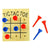 Wooden Peg Tic Tac Toe Games (Bag of 12 Pieces)