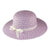 Purple Straw Hat (Bag of 4)