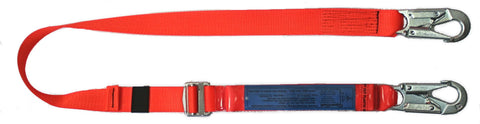 Lanyard with built in energy absorber
