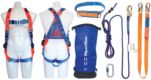 ROOFKIT006 : Roofers Safety Kit with 20m Rope Line.