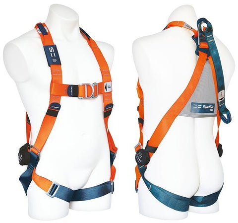 HARNES001 : Full body harness with rear and front D