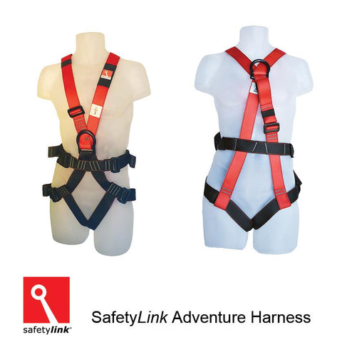 Full Body Harness for Rock Climbing, Abseiling, Dual Flying Fox.