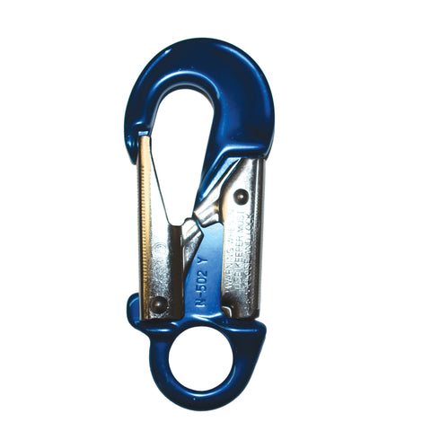 Dual Action Lock Snap Hook Blue