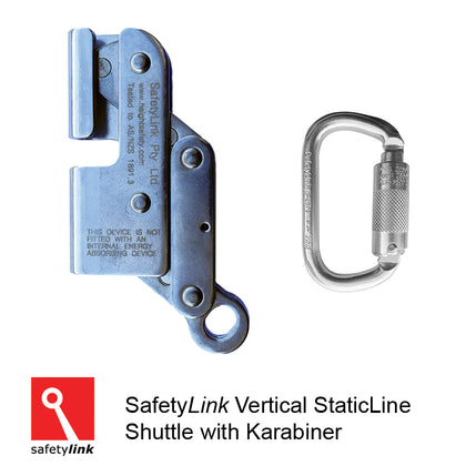 LADER001:.10 : Vertical StaticLine Shuttle with Karabiner