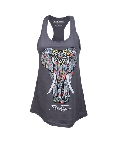 Women's Carbon Elephant Tank