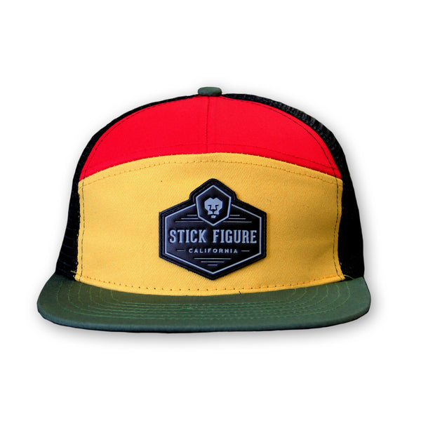 Lion Patch Rasta Trucker